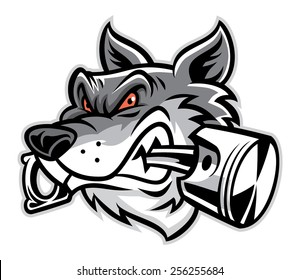 wolf bite the piston