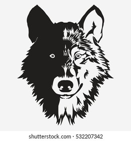 wolf head images stock photos vectors shutterstock