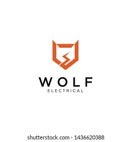 Wolf design with electronic nuances. modern and simple.