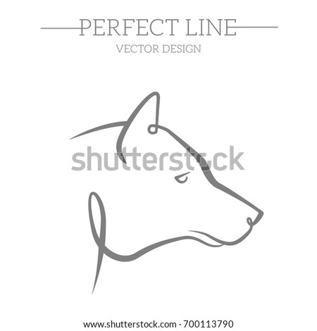 wolf face logo emblem template mascot stock vector royalty free