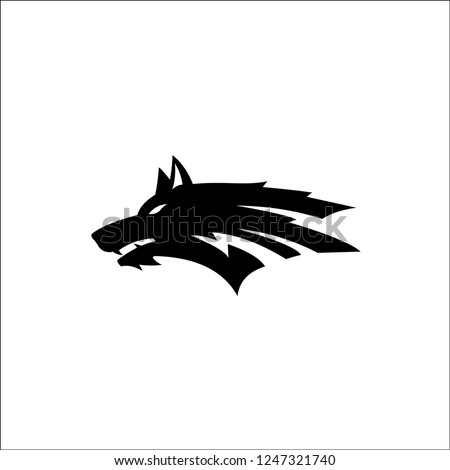wolf head abstract logo template stock vector royalty free