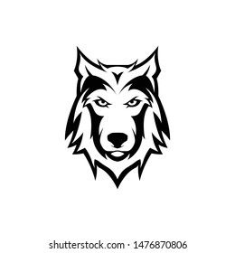 wolf head or face mascot logo for e sport