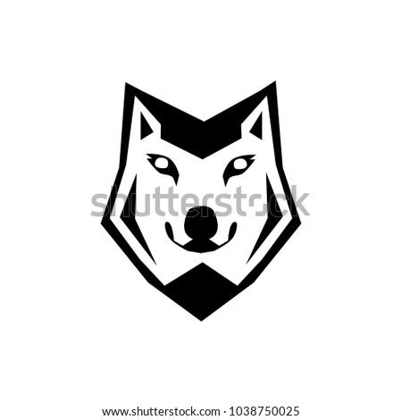 wolf head icon vector illustration logo stock vector royalty free