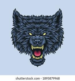 Wolf head illustration Premium Vector