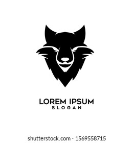 wolf head logo icon design vector illustration