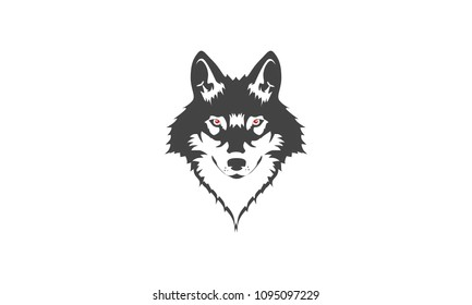 wolf head logo vector