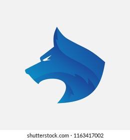 Wolf Head Logo Vector, Dog head Logo Vector, Abstract Wolf Logo