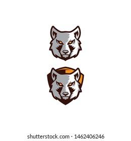 Wolf head logo vector icon