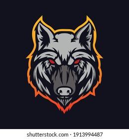 Wolf Head Mascot Logo Vector Design