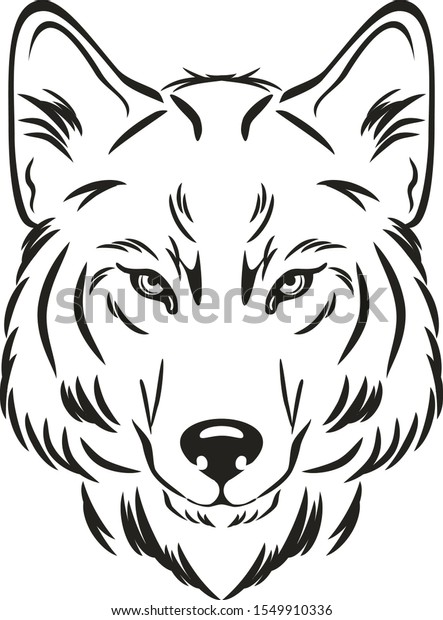 wolf-head-outlined-drawing-vector-600w-1