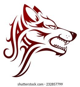 Tribal Wolf Images Stock Photos Vectors Shutterstock