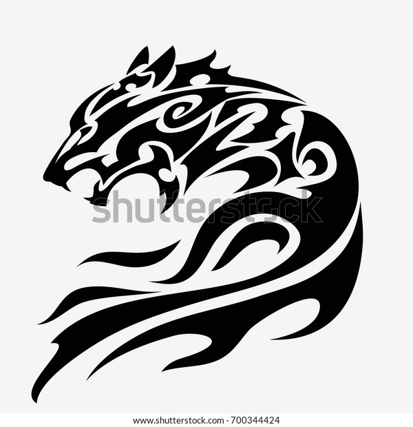 a040dafd08b31 Wolf Head Tattoo Design Isolated Stock Vector (Royalty Free) 700344424
