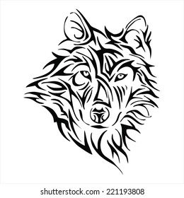 Tribal Wolf Images Stock Photos Vectors Shutterstock