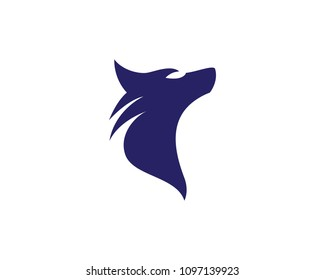 Wolf head vector icon