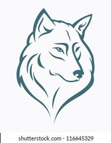 Wolf head - vector illustration