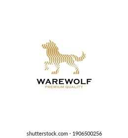 Wolf hipster logo design simple style good for your business