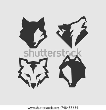 wolf logo stock vector royalty free 748455634 shutterstock