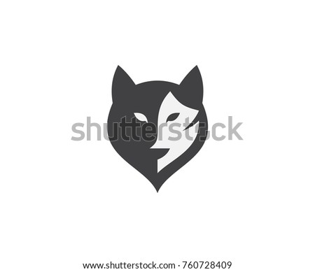 wolf logo design stock vector royalty free 760728409 shutterstock