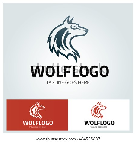 wolf logo design template wolf face stock vector royalty free