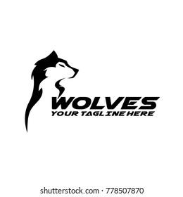 Wolf Logo Design Vector