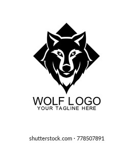Wolf Logo Design Vector