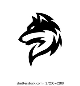 wolf logo design vector symbol graphic idea creative