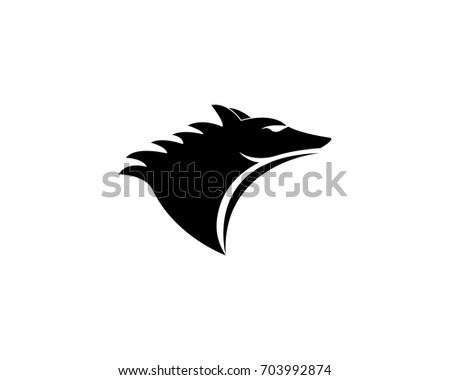 wolf logo template stock vector royalty free 703992874 shutterstock