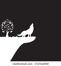 The Wolf logo template vector icon design