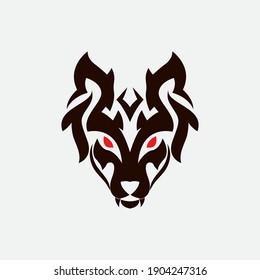 Wolf Logo Template vector illustration design