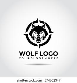 Wolf Logo Template. vector Illustrator eps.10