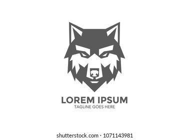 wolf logo. vector illustration. icon