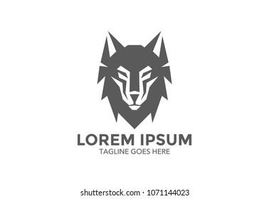 wolf logo. vector illustration. icon