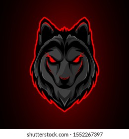 Wolf mascot logo design for esport and sport team or business, brand. With modern style. Vector illustration suitable for tshirt and printing