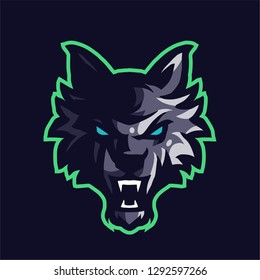 Wolf mascot logo gaming vector template