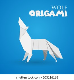 wolf origami