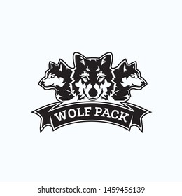 wolf pack exclusive logo design inspiration