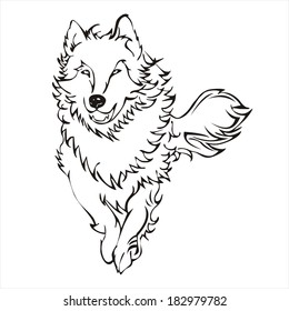 Running Wolf Tattoo Images Stock Photos Vectors Shutterstock