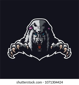 wolf in sheep's clothing esport gaming mascot logo template