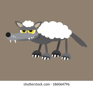 Wolf in sheep's clothing vector