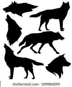 Wolf Profile Images Stock Photos Vectors Shutterstock