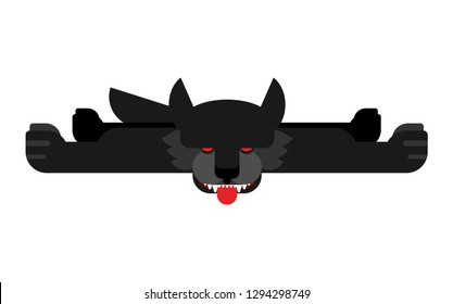 Wolf skin trophy hunting isolated. Vector illustration