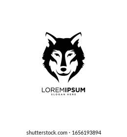 Wolf symbol logo vector illustration