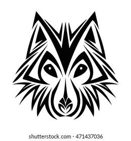 Wolf Tribal Tatto Animal Creativity Design Vector De Stock Libre De