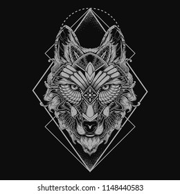 b7fd67c33 Wolf Tattoo Images, Stock Photos & Vectors | Shutterstock