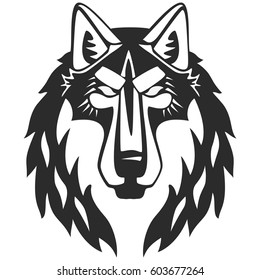 Black And White Wolf Images Stock Photos Vectors Shutterstock