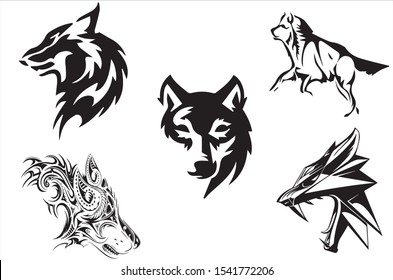 wolf vector illustration for collection