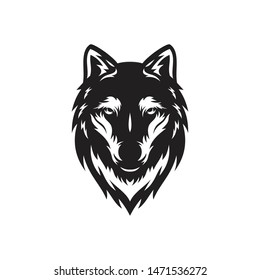 wolf vector logo,  wolf head silhouette