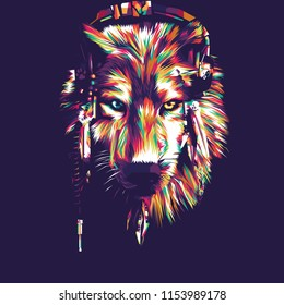 Wolf Vector Pop Art