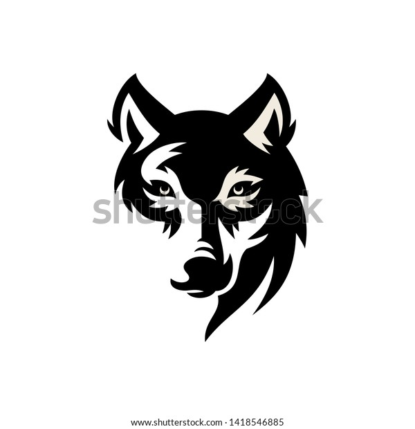 Wolf Vintage Logo Stock Vector Stock Vector (Royalty Free