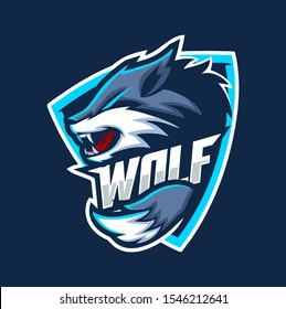 WOLF WOLVES MASCOT ESPORT LOGO DESIGN